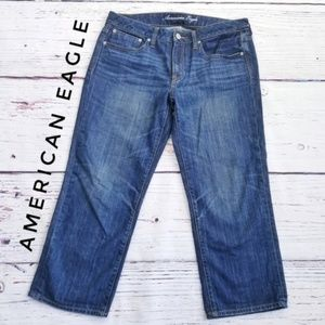 American Eagle Boy Fit Cropped Jeans